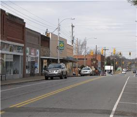 North Chatham Avenue in the downtown historic area of Siler City