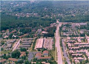 North Laurel's All Saints Road and Whiskey Bottom Apartments in August 1998