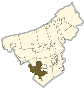 Location in Lehigh and Northampton Counties, Pennsylvania