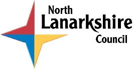 Official logo of North LanarkshireNorth LanrikshireSiorrachd Lannraig a Tuath
