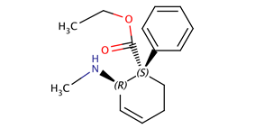 Chemical structure of Nortilidine.