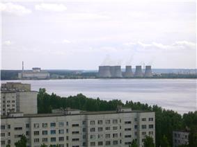 Photograph of the Novovoronezhskaya Nuclear Power Plant.