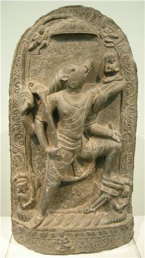 Nswag, india bengala occidentale, periodo pala (760-1142) varana che libera la dea della terra bhudevi, X sec..JPG