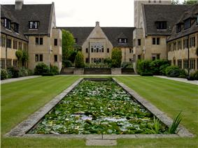 Nuffield College Courtyard, from the west