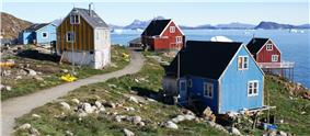 Wooden houses in Nuussuaq