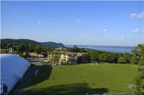 Moseley Field on the Rockland Campus overlooks the Hudson River