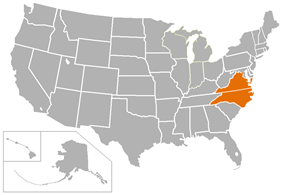 Old Dominion Athletic Conference locations