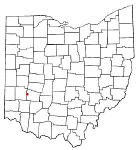 Location of Beavercreek in Ohio