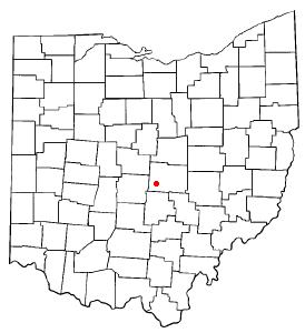 Location of Beechwood Trails, Ohio