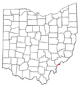 Location of Belpre, Ohio