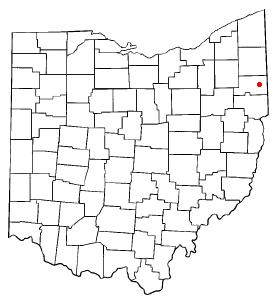 Location of Boardman, Ohio