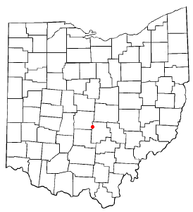 Location of Canal Winchester, Ohio