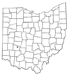 Location of Cedarville, Ohio