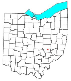 Location of Chandlersville, Ohio