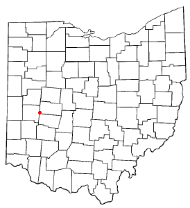 Location of Christiansburg, Ohio