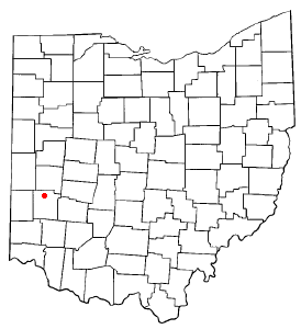 Location of Clayton, Ohio