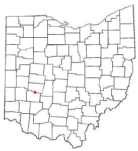 Location of Clifton, Ohio