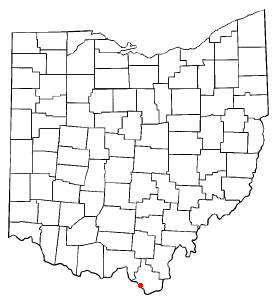 Location of Coal Grove, Ohio
