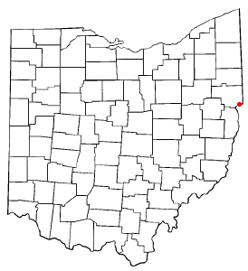 Location of East Liverpool, Ohio