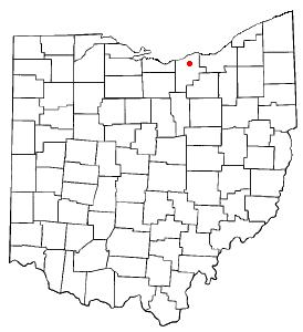 Location of Elyria, Ohio