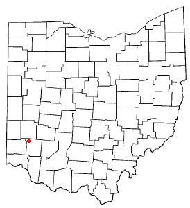 Location of Franklin, Ohio