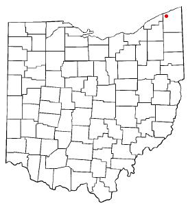 Location of Geneva within Ashtabula County, Ohio