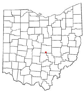 Location of Hebron, Ohio