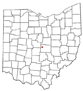 Location of Johnstown, Ohio