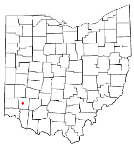 Location of Lebanon, Ohio