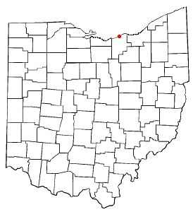 Location within the state of Ohio