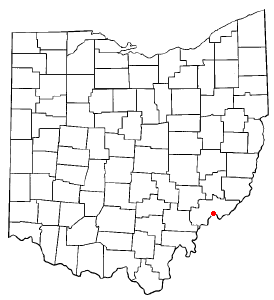 Location of Marietta in Ohio