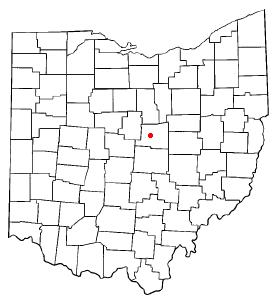 Location of Mount Vernon, Ohio