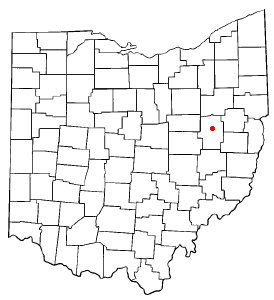 Location of New Philadelphia, Ohio