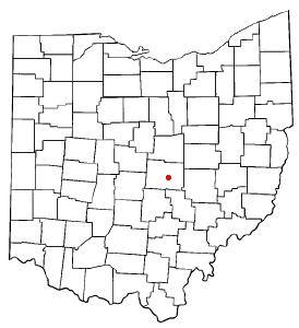 Location of Newark, Ohio