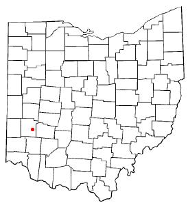 Location of Oakwood, Montgomery County, Ohio