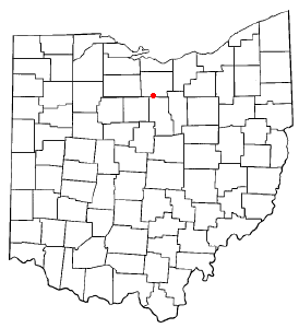 Location of Plymouth, Ohio
