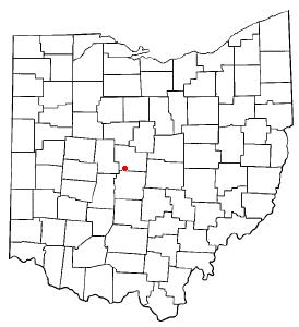 Location of Powell in Ohio