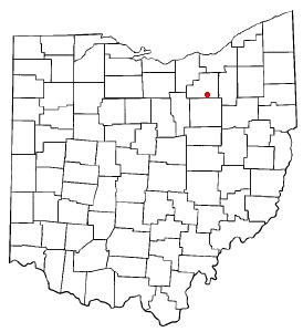 Location of Seville, Ohio