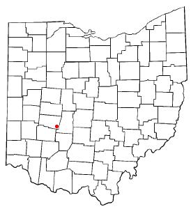 Location of South Charleston, Ohio