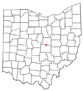 Location of Utica, Ohio