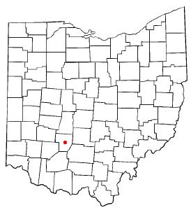 Location of Washington Court House, Ohio