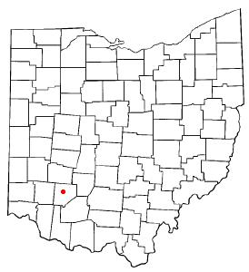 Location of Wilmington, Ohio