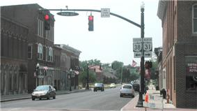 Intersection of State Routes 31 and 38 in Marysville