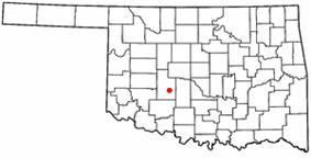 Location of Anadarko, Oklahoma