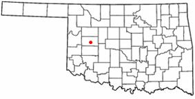 Location of Arapaho, Oklahoma