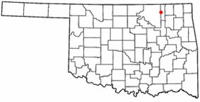 Location of Bartlesville within Oklahoma