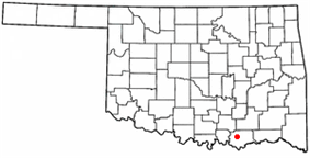 Location within the state of Oklahoma