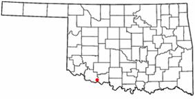 Location of Grandfield, Oklahoma