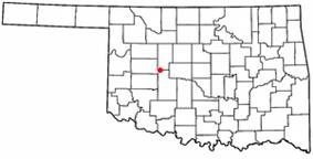 Location of Hydro, Oklahoma