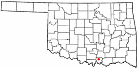 Location of Madill, Oklahoma